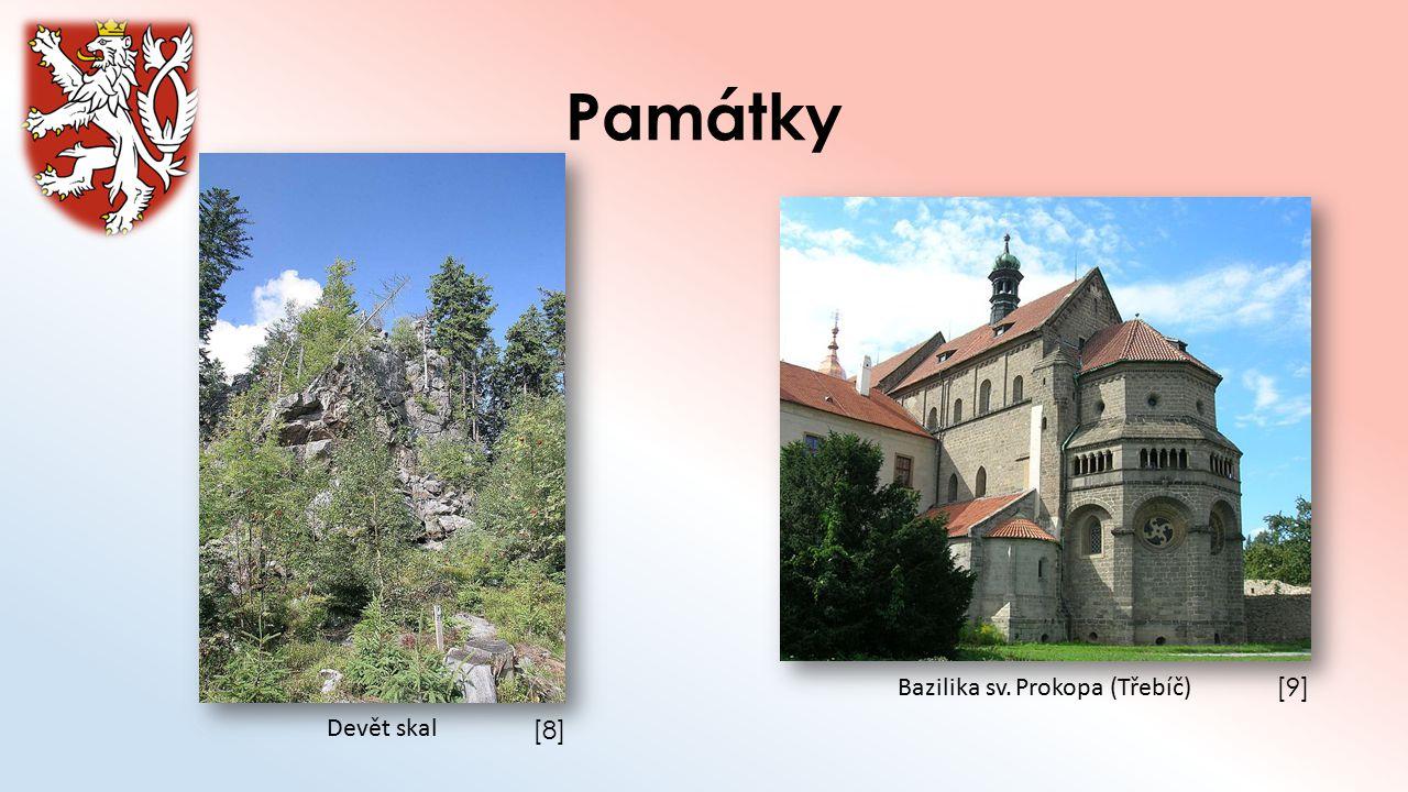 Památky Bazilika sv. Prokopa (Třebíč) [9] Devět skal [8]